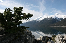 The view from the Yukutania point trail near Skagway's airport terminal. It is an easy one-mile hike with spectacular vistas.